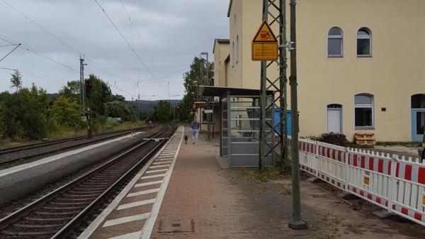 Bahnhof Hedemünden vor dem Umbau