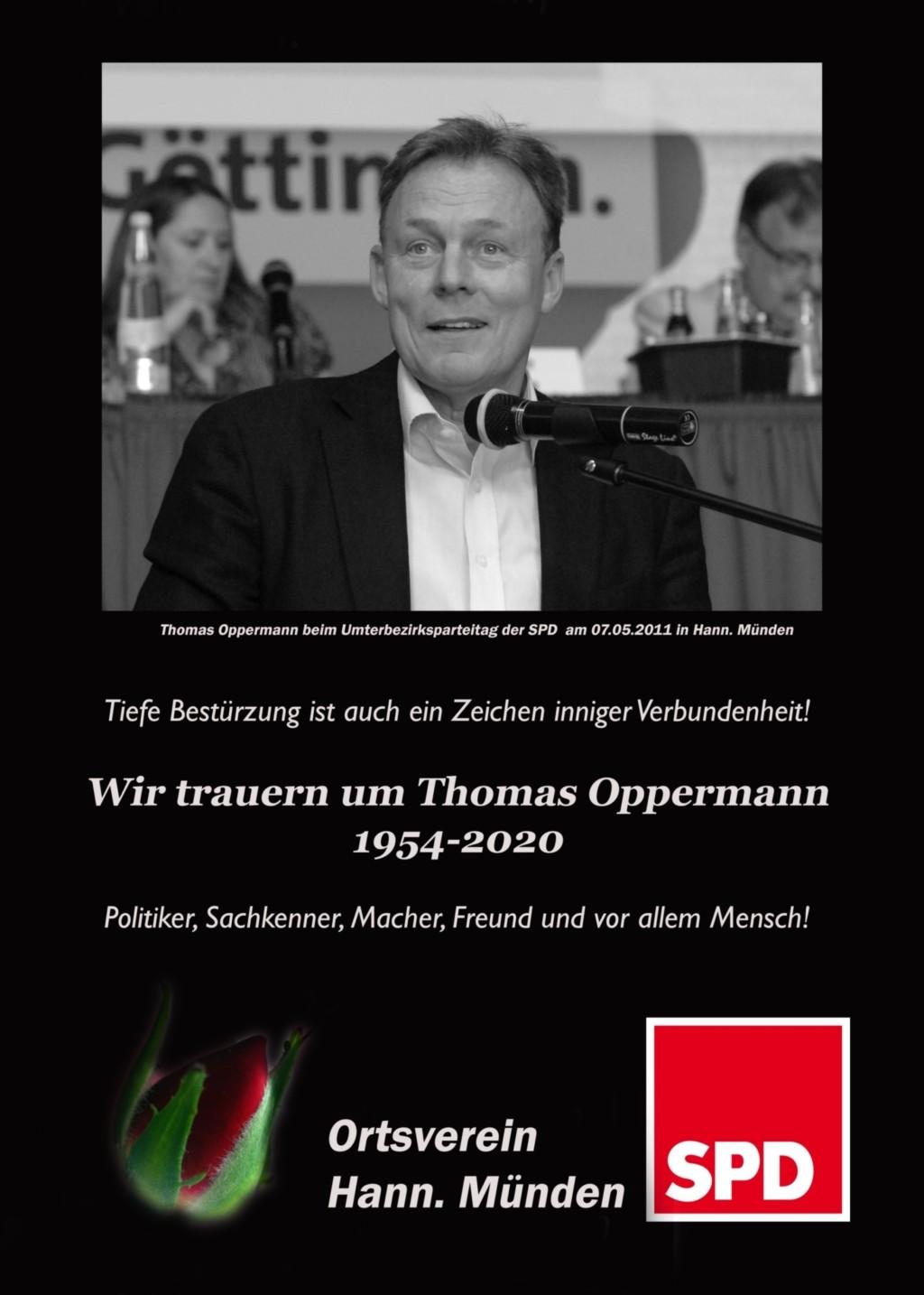 Nachruf Thomas Oppermann